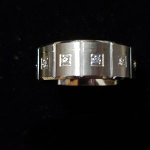 Other - Men's band ring with Cz's or wedding band sz11